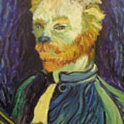 Vincent Van Gogh Cat    Art Print