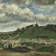 Vincent Van Gogh, The Hill Of Montmartre With Stone Quarry, Paris Art Print