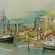 Vineyard Boats Art Print