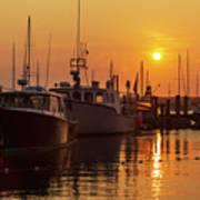 Vineyard Haven Harbor Sunrise II Art Print