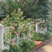 Vineyard Roses Art Print