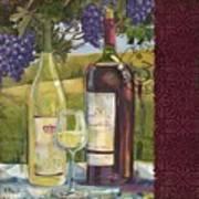 Vineyard Wine Tasting Collage II Art Print