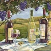 Vineyard Wine Tasting Art Print