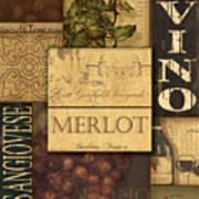 Vino Collage Art Print by Grace Pullen
