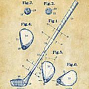 Vintage 1910 Golf Club Patent Artwork Art Print