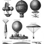 Vintage Aeronautics - Early Balloon Designs Art Print