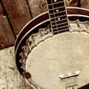 Vintage Banjo Barn Dance Art Print