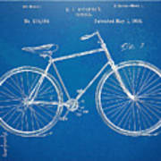 Vintage Bicycle Patent Artwork 1894 Art Print by Nikki Marie Smith