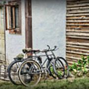 Vintage Bicycles The Journey Art Print