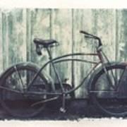 Vintage Bike Polaroid Transfer Print by Jane Linders