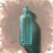 Vintage Blue Bottle Art Print by Timothy Jones