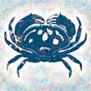 Vintage Blue Crab Art Print
