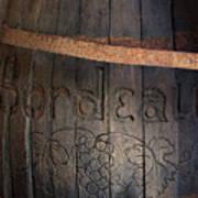 Vintage Bordeaux Wine Barrel Without Its X Art Print