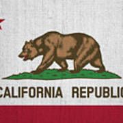 Vintage California Flag Art Print