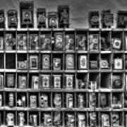 Vintage Camera Matrix Art Print