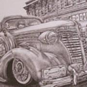 Vintage Car On The Street Art Print