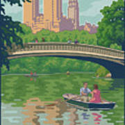 Vintage Central Park Art Print by Mitch Frey