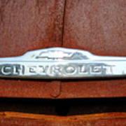 Vintage Chevy Truck Emblem Art Print