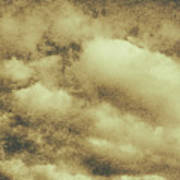 Vintage Cloudy Sky. Old Day Background Art Print