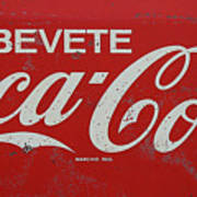 Vintage Coca Cola Sign Art Print