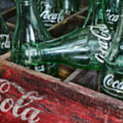 Vintage Coke Square Format Art Print