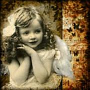 Vintage Collage 22 Art Print by Angelina Cornidez