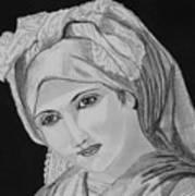 Vintage Country Girl Art Print
