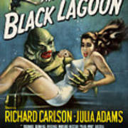 Vintage Creature From The Black Lagoon Poster Art Print