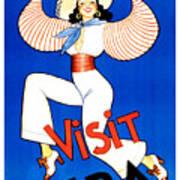 Vintage Cuba Travel Poster Art Print