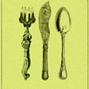 Vintage Cutlery 4 Art Print