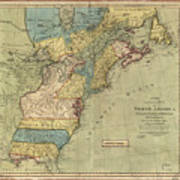 Vintage Discovery Map Of The Americas - 1771 Art Print