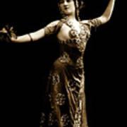 Vintage Exotic Dancer Art Print