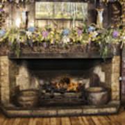 Vintage Fireplace Art Print