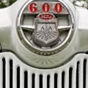 Vintage Ford 600 Nameplate Emblem Art Print