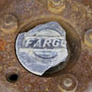 Vintage Fargo Wheel Art Art Print