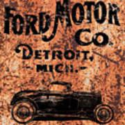 Vintage Ford Motor Company Art Print