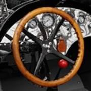 Vintage Ford Racer Dashboard Art Print