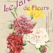Vintage French Flower Shop 4 Art Print