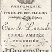 Vintage French Perfume Sign Art Print