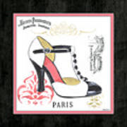 Vintage French Shoes 1 Art Print