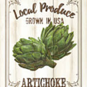 Vintage Fresh Vegetables 2 Art Print