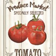 Vintage Fresh Vegetables 4 Art Print