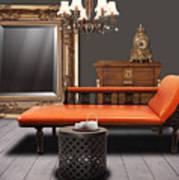 Vintage Furnitures Print by Atiketta Sangasaeng