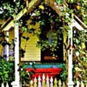 Vintage Garden Arbor Gate Art Print