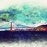 Vintage Golden Gate Art Print