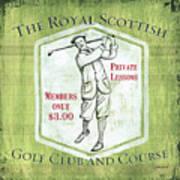Vintage Golf Green 1 Art Print