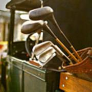 Vintage Golf Set Art Print