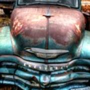 Vintage Green Chevy Truck Art Print