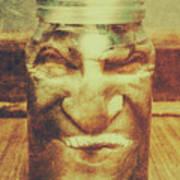 Vintage Halloween Horror Jar Art Print