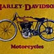 Vintage Harley Davidson Art Print